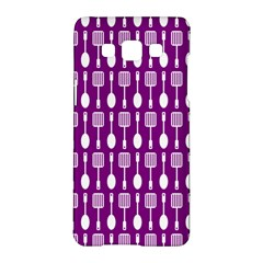 Magenta Spatula Spoon Pattern Samsung Galaxy A5 Hardshell Case  by creativemom