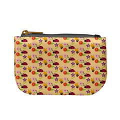 Colorful Ladybug Bess And Flowers Pattern Mini Coin Purses by creativemom