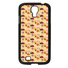 Colorful Ladybug Bess And Flowers Pattern Samsung Galaxy S4 I9500/ I9505 Case (black) by creativemom