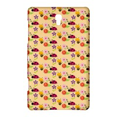 Colorful Ladybug Bess And Flowers Pattern Samsung Galaxy Tab S (8 4 ) Hardshell Case