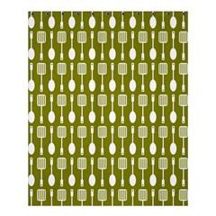 Olive Green Spatula Spoon Pattern Shower Curtain 60  x 72  (Medium)
