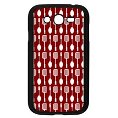 Red And White Kitchen Utensils Pattern Samsung Galaxy Grand DUOS I9082 Case (Black) by creativemom