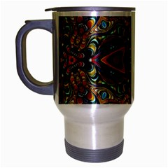 Magnificent Kaleido Design Travel Mug (silver Gray) by MoreColorsinLife