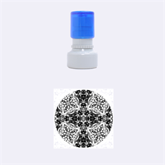 Magnificent Kaleido Design Rubber Round Stamps (small) by MoreColorsinLife
