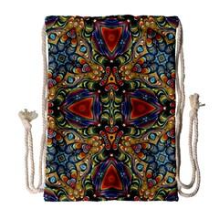 Magnificent Kaleido Design Drawstring Bag (large) by MoreColorsinLife