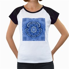 Awesome Kaleido 07 Blue Women s Cap Sleeve T by MoreColorsinLife