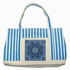 Awesome Kaleido 07 Blue Striped Blue Tote Bag  by MoreColorsinLife