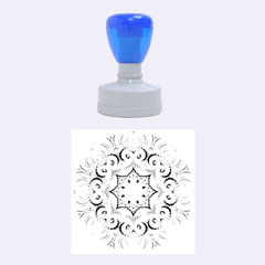 Awesome Kaleido 07 Blue Rubber Round Stamps (medium) by MoreColorsinLife