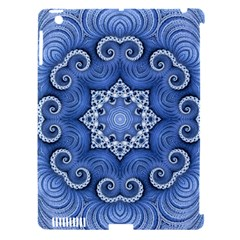 Awesome Kaleido 07 Blue Apple Ipad 3/4 Hardshell Case (compatible With Smart Cover) by MoreColorsinLife