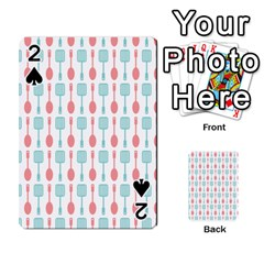 Spatula Spoon Pattern Playing Cards 54 Designs  by creativemom