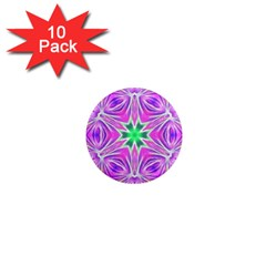 Kaleido Art, Pink Fractal 1  Mini Magnet (10 pack)  by MoreColorsinLife