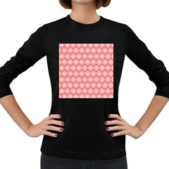 Abstract Knot Geometric Tile Pattern Women s Long Sleeve Dark T Shirts by creativemom