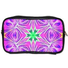 Kaleido Art, Pink Fractal Toiletries Bags 2 Side by MoreColorsinLife