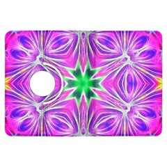 Kaleido Art, Pink Fractal Kindle Fire Hdx Flip 360 Case by MoreColorsinLife