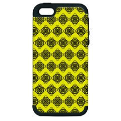 Abstract Knot Geometric Tile Pattern Apple Iphone 5 Hardshell Case (pc+silicone) by creativemom