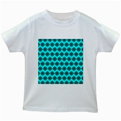 Abstract Knot Geometric Tile Pattern Kids White T Shirts by creativemom