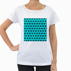 Abstract Knot Geometric Tile Pattern Women s Loose-Fit T-Shirt (White) by creativemom