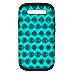 Abstract Knot Geometric Tile Pattern Samsung Galaxy S Iii Hardshell Case (pc+silicone) by creativemom