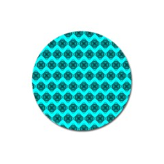 Abstract Knot Geometric Tile Pattern Magnet 3  (round) by creativemom
