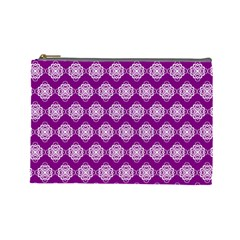 Abstract Knot Geometric Tile Pattern Cosmetic Bag (large)  by creativemom