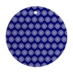 Abstract Knot Geometric Tile Pattern Ornament (Round)