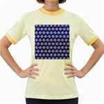 Abstract Knot Geometric Tile Pattern Women s Fitted Ringer T-Shirts