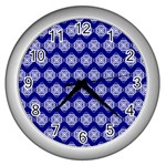 Abstract Knot Geometric Tile Pattern Wall Clocks (Silver)