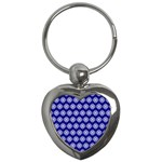 Abstract Knot Geometric Tile Pattern Key Chains (Heart)
