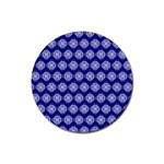 Abstract Knot Geometric Tile Pattern Rubber Coaster (Round)