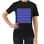 Abstract Knot Geometric Tile Pattern Women s T-Shirt (Black) (Two Sided)
