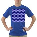 Abstract Knot Geometric Tile Pattern Dark T-Shirt