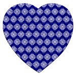 Abstract Knot Geometric Tile Pattern Jigsaw Puzzle (Heart)
