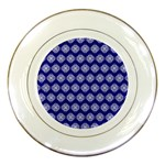 Abstract Knot Geometric Tile Pattern Porcelain Plates