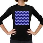 Abstract Knot Geometric Tile Pattern Women s Long Sleeve Dark T-Shirts