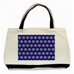 Abstract Knot Geometric Tile Pattern Basic Tote Bag