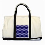 Abstract Knot Geometric Tile Pattern Two Tone Tote Bag
