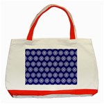 Abstract Knot Geometric Tile Pattern Classic Tote Bag (Red)