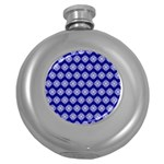 Abstract Knot Geometric Tile Pattern Round Hip Flask (5 oz)