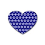 Abstract Knot Geometric Tile Pattern Rubber Coaster (Heart)