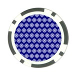 Abstract Knot Geometric Tile Pattern Poker Chip Card Guards