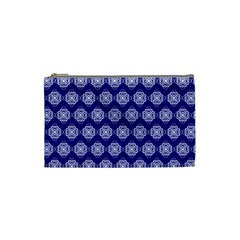 Abstract Knot Geometric Tile Pattern Cosmetic Bag (Small)  by creativemom