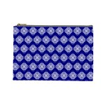 Abstract Knot Geometric Tile Pattern Cosmetic Bag (Large)