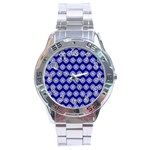 Abstract Knot Geometric Tile Pattern Stainless Steel Men s Watch