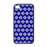 Abstract Knot Geometric Tile Pattern Apple iPhone 4 Case (Black)