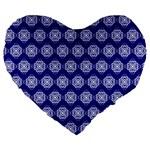 Abstract Knot Geometric Tile Pattern Large 19  Premium Heart Shape Cushions