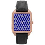 Abstract Knot Geometric Tile Pattern Rose Gold Watches