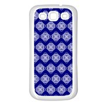 Abstract Knot Geometric Tile Pattern Samsung Galaxy S3 Back Case (White)