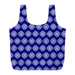 Abstract Knot Geometric Tile Pattern Full Print Recycle Bags (L)