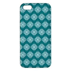 Abstract Knot Geometric Tile Pattern Apple Iphone 5 Premium Hardshell Case by creativemom