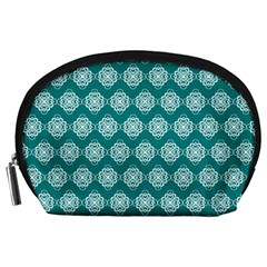 Abstract Knot Geometric Tile Pattern Accessory Pouches (large)